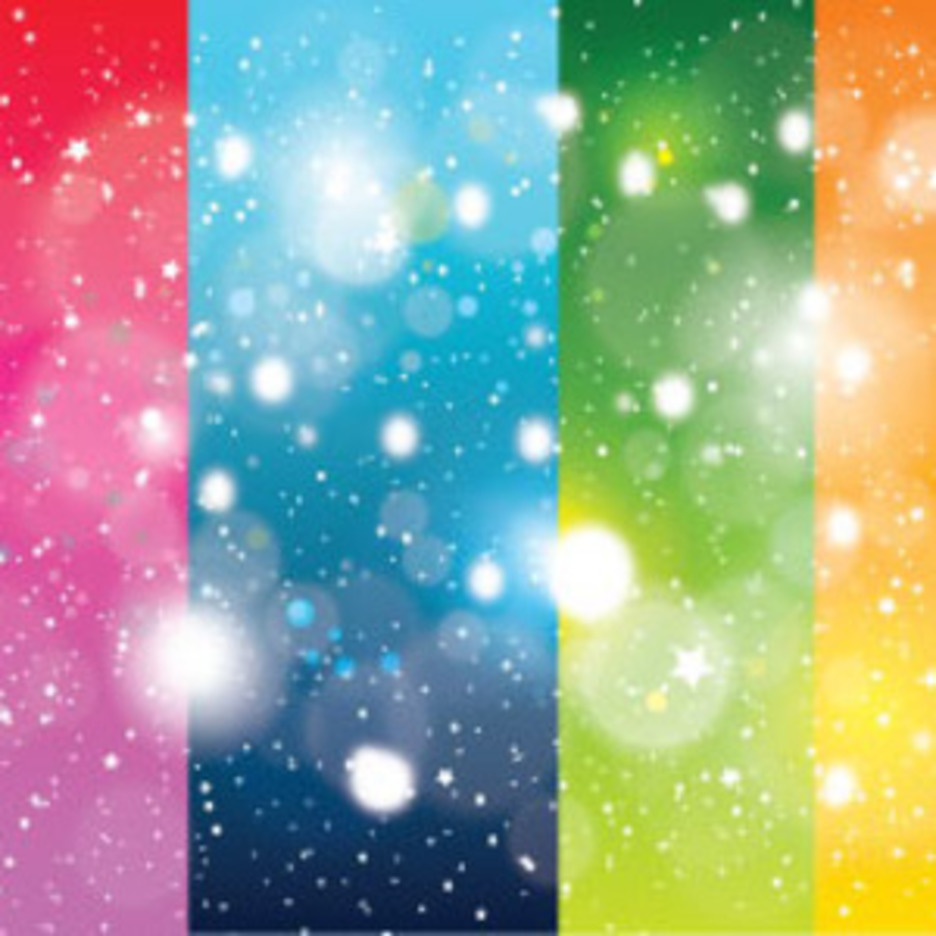 Four Colors Background With Shinning Stars