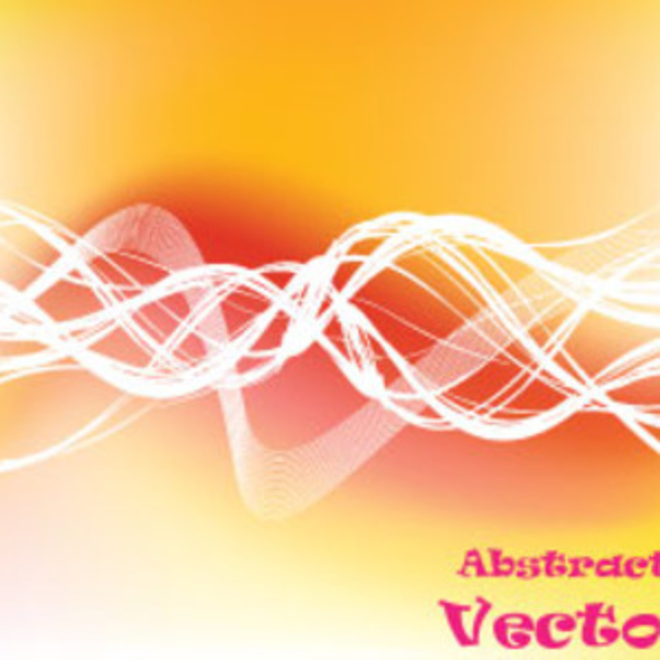 Yellow To Orange Abstract Vector