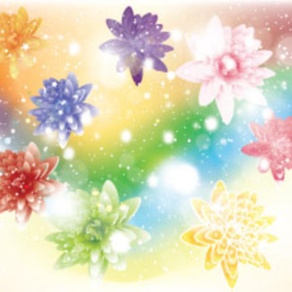 Wonderful Flowers Free Vector Art