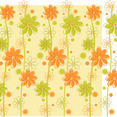 Green & Orange Floral Background
