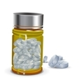 Medicines In A Bottle, Round Shaped