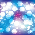 Blue And Purple Hexagonal Vector Background