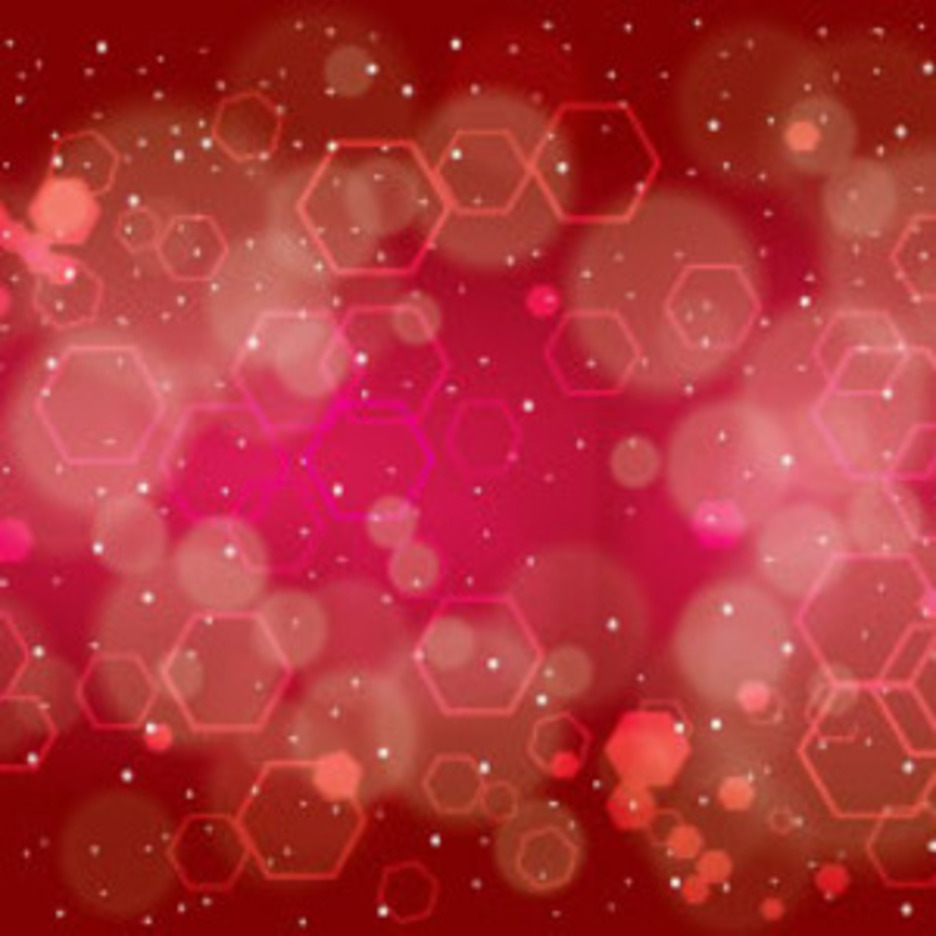 Red Dotted Hexo Design Free Vector Graphic