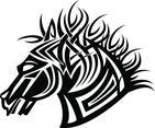 Horse Tribal Style Vector