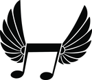 Flying Music Note Vector