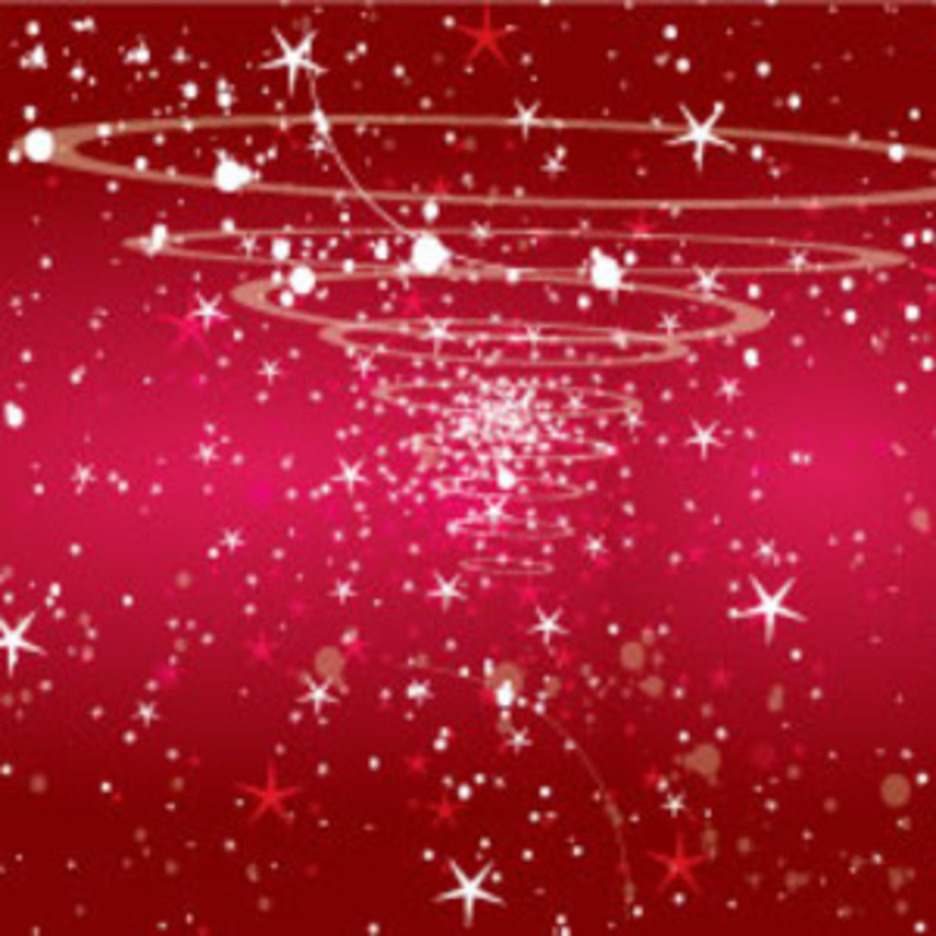 Red Retro Circles Shinnig Stars Abstract Vector