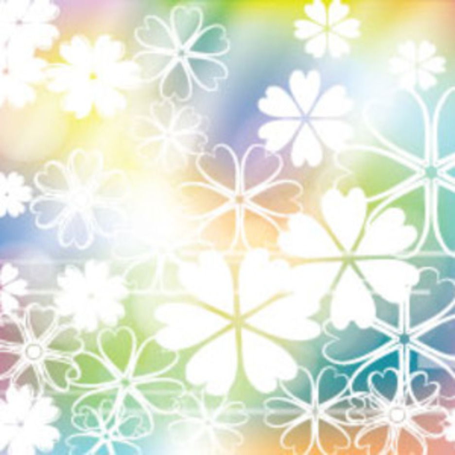 Empty White Flowers In Colored Background
