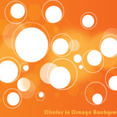 Circles In Orange Background Vector Graphic