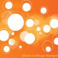 Circles In Orange Background Vector Graphic