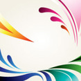 Abstract Designs In Clear Background