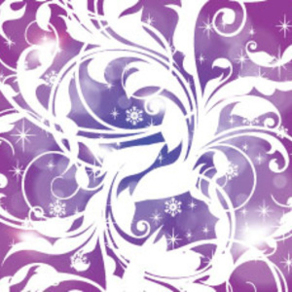 White Swirls In Blue Purple Vector Graphic