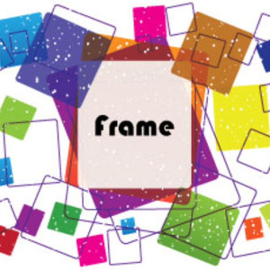 Colored Dotted Frame Free Design Graphic