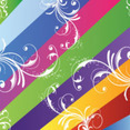 Nine Coloerd Lines Swirls Vector
