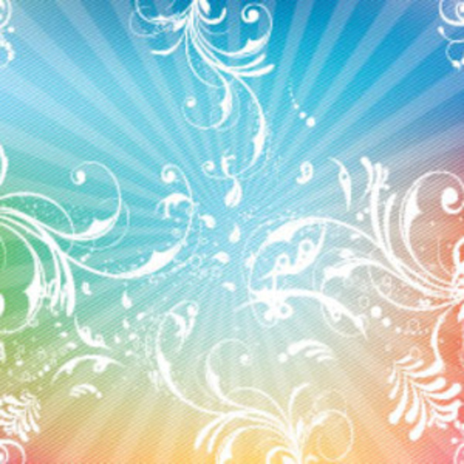 Swirly Lined Colorful Vector Background