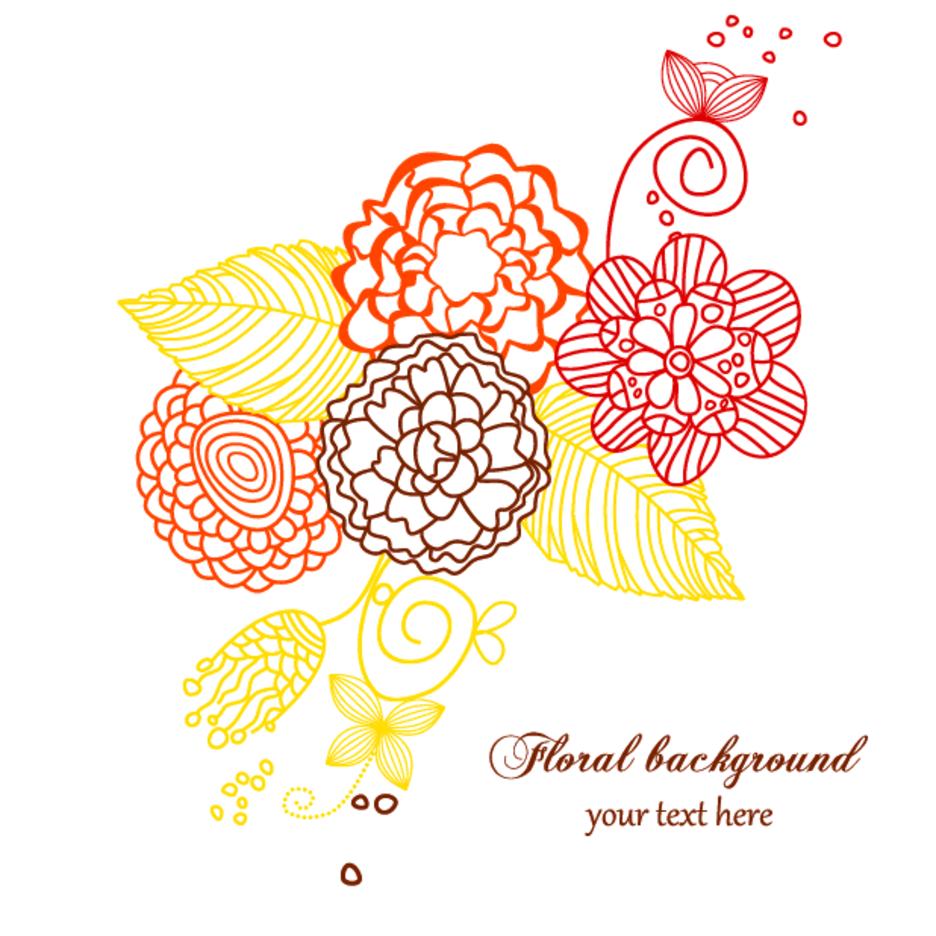 Simplistic Floral Background