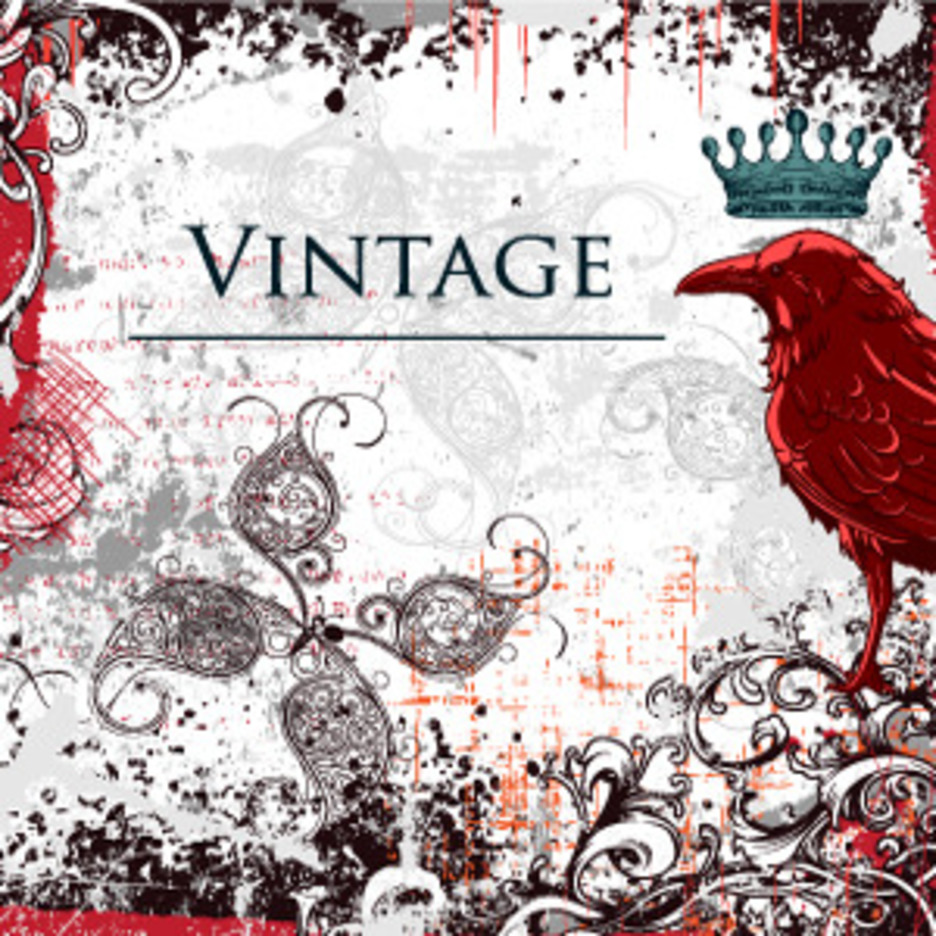 Free Vector Vintage Illustration With Raven