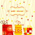 Autumnal Happy Birthday Card