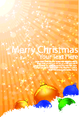 Merry Christmas Card With Stripes Background