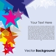 Colorful Stars On Vector Background