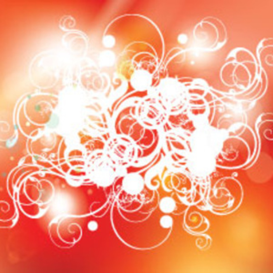 Compresed Swirls In Orange Red Background