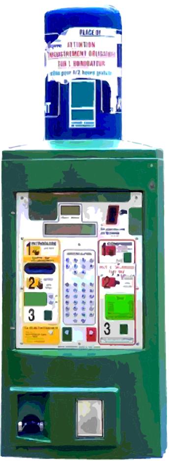 Vector Parking Ticket Machine