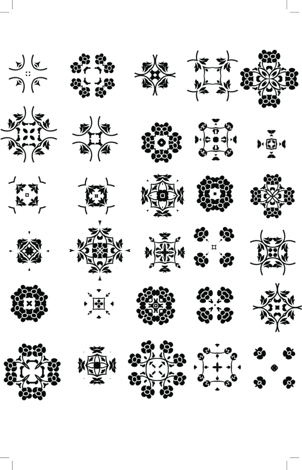 30 Abstract Radial Decorative Free Vector Set
