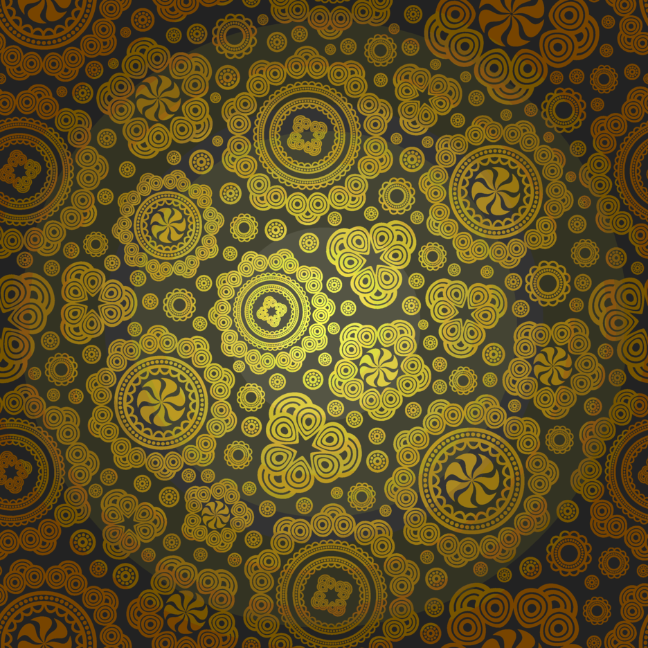 Seamless Brown Paisley Pattern