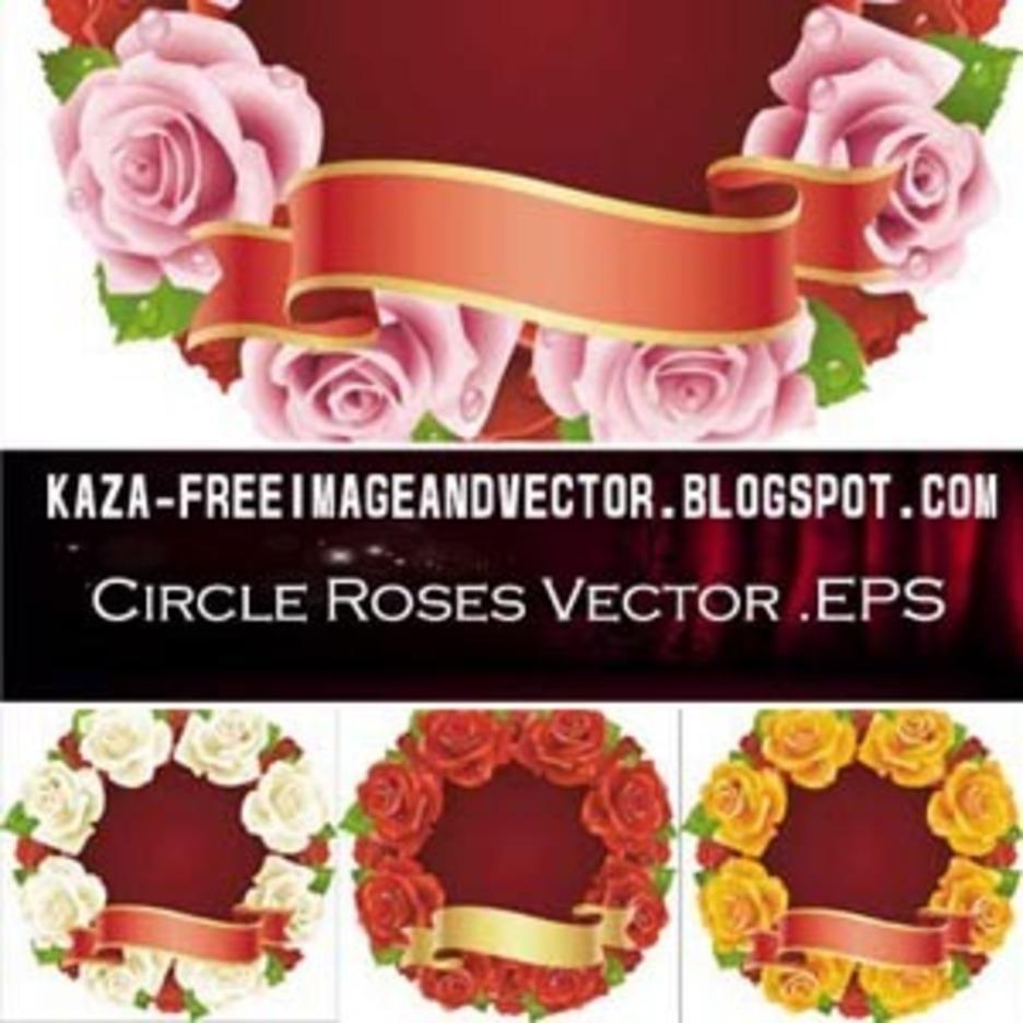 Circle Roses Free Vector