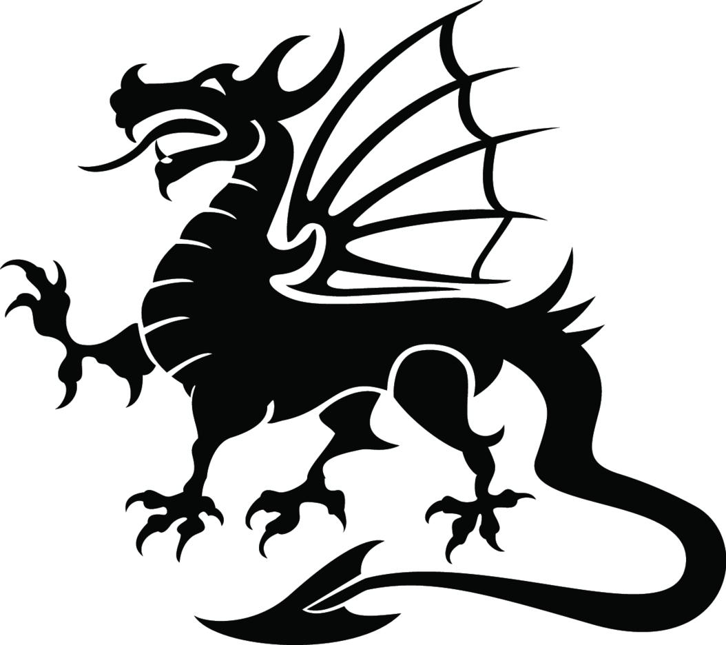 Dragon Black Vector Image