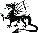 Dragon Black Vector Image