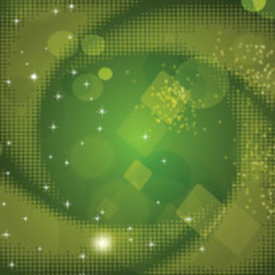 Dotted Corebed Green Vector Background