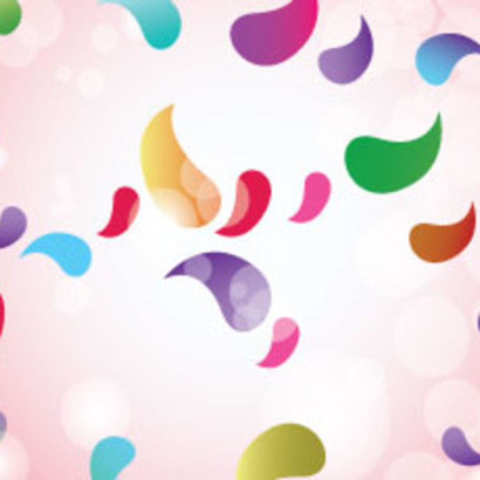 Colored Designs In Clear Pink Background