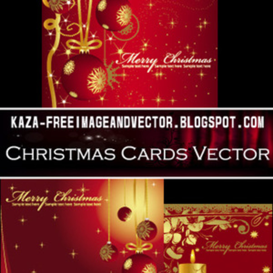Christmas Cards Free Vector