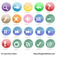 Free Multicolored Mathematical Symbol Buttons, Etc.