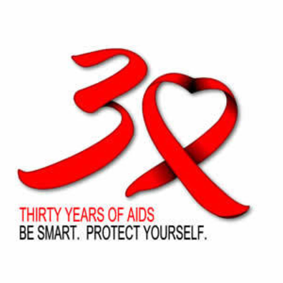 30 Years Of HIVAIDS Ribbon