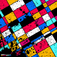 Colourful Grunge Squares