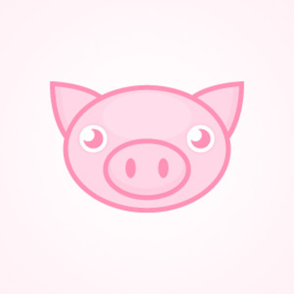 Cute Pink Pig
