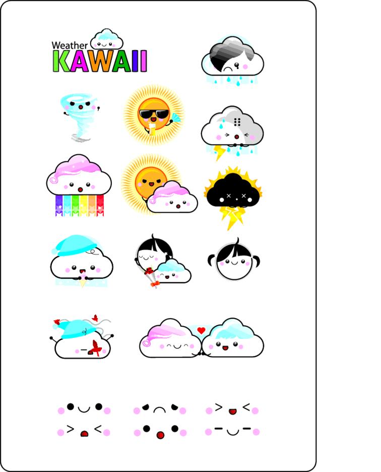 12 Weather Kawaii