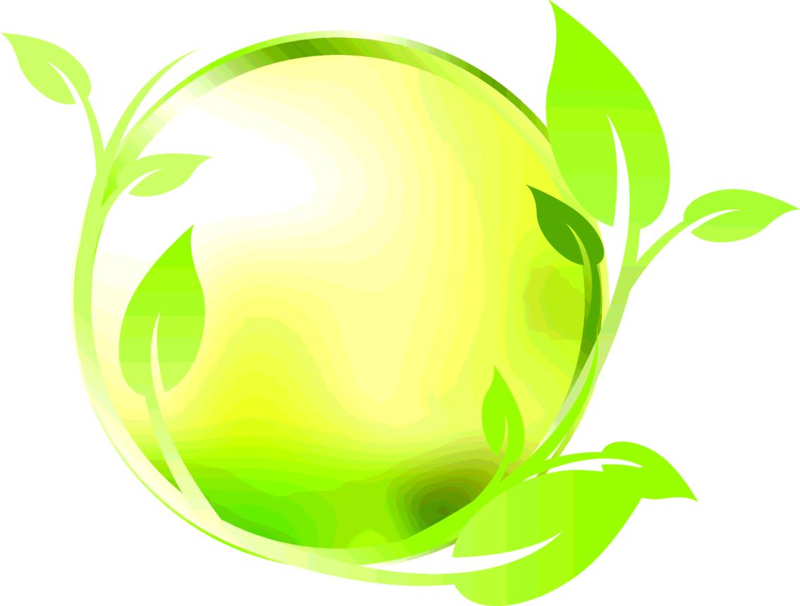 Floral Green Circle