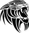 Panthera Tribal Vector Image