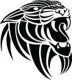 Panthera Tribal Vector Image