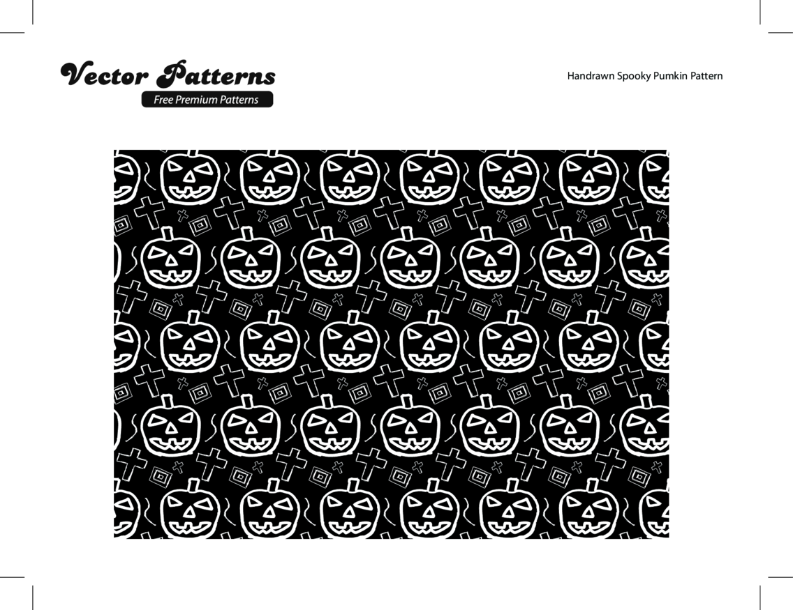 Hand Drawn Spooky Halloween Illustrator Pattern
