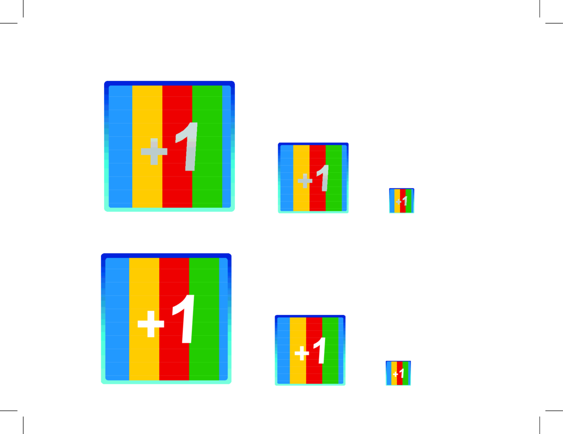 A Vector And PNG Google +1 Icon Set