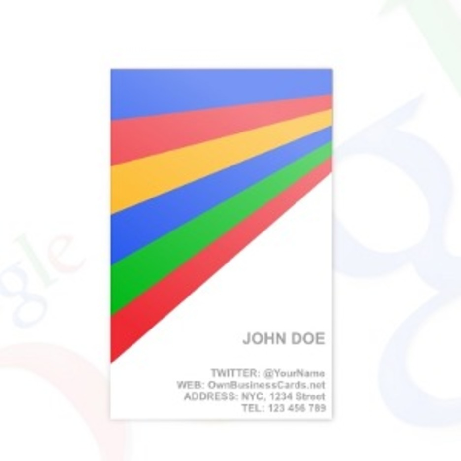 Google Business Card Template