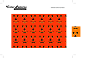 Halloween Photoshop And Illustrator Pumkin Face Pattern