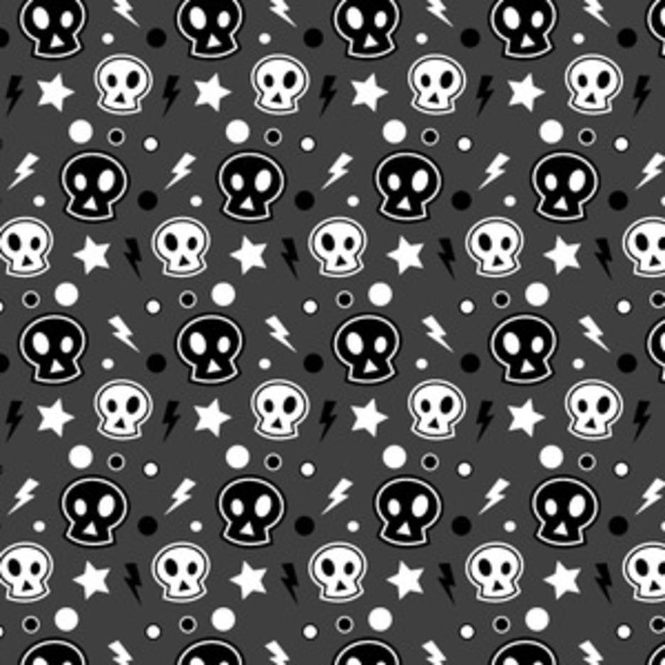 Funky Skull Halloween Seamless Illustrator Pattern