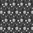 Funky Skull Halloween Seamless Illustrator Pattern