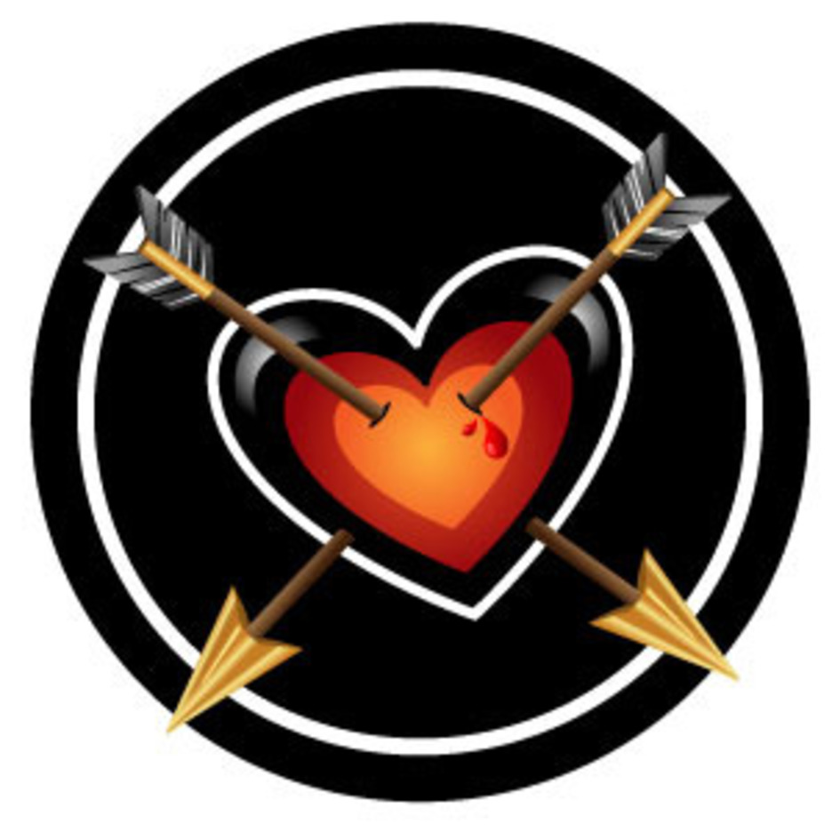 Heart And Arrows Vector