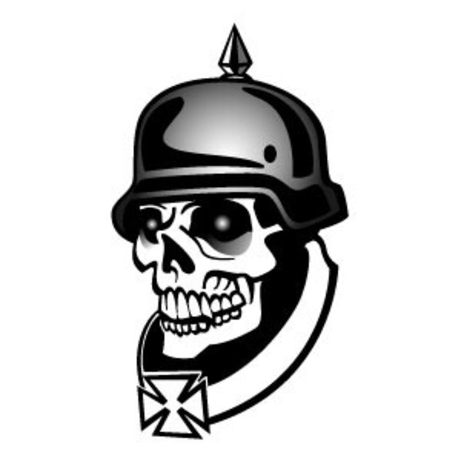 Soldier Skull Vector