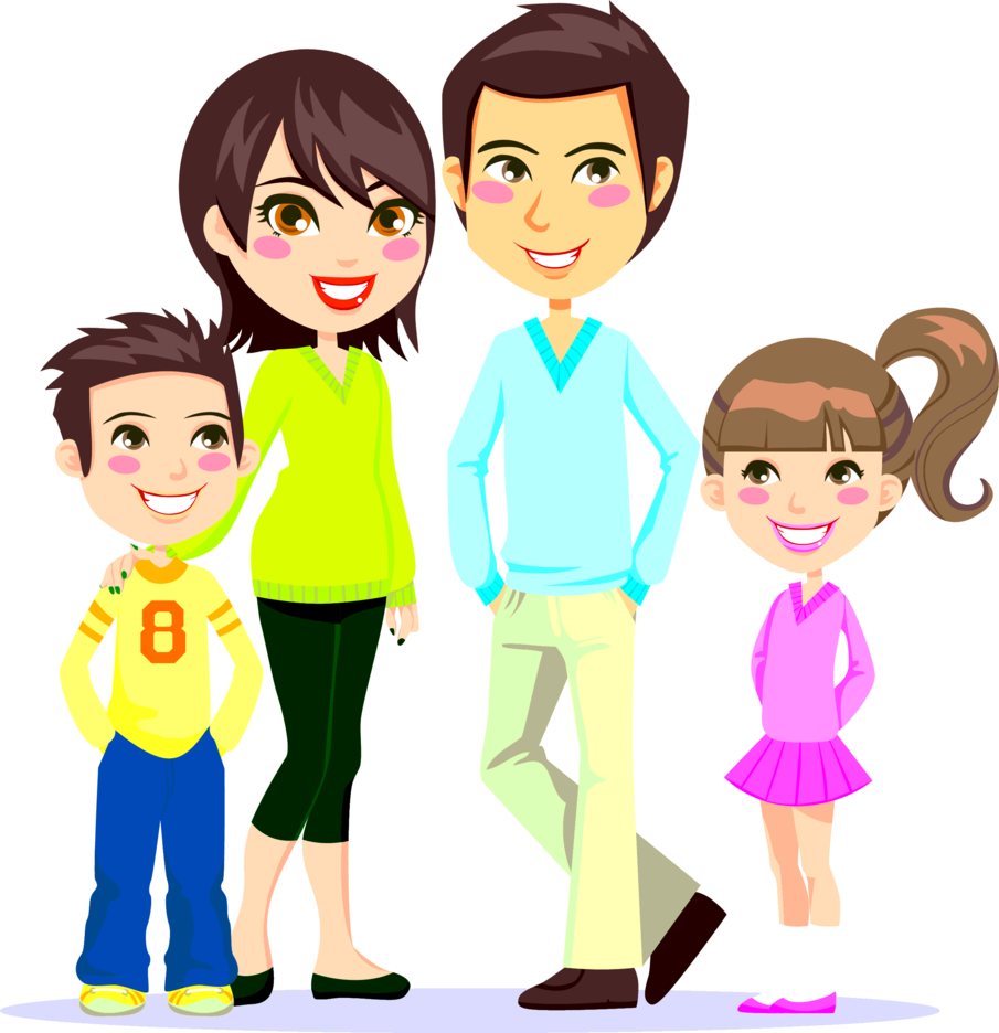 Vector Of A Happy Family